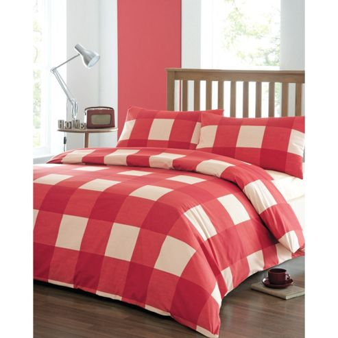Newquay Double Quilt Cover Set - Red
