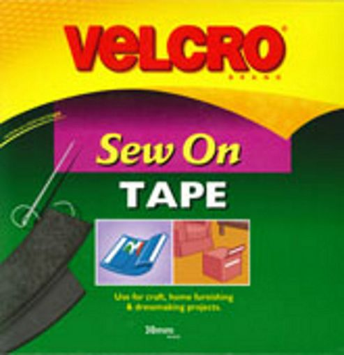 Velcro Sew N Sew 30mm - Black
