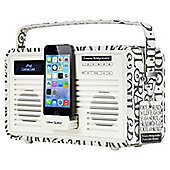 ViewQuest Emma Bridgewater Retro DAB+/FM Radio with Lightning iPod Dock (Black toast, 30 pin)