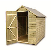 6ft x 5ft Windowless Pressure Treated T&G Apex Shed + Single Door