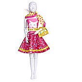Dress your Doll Pattern - Mix 'n Match Outfit - Pink/Yellow - Scarf