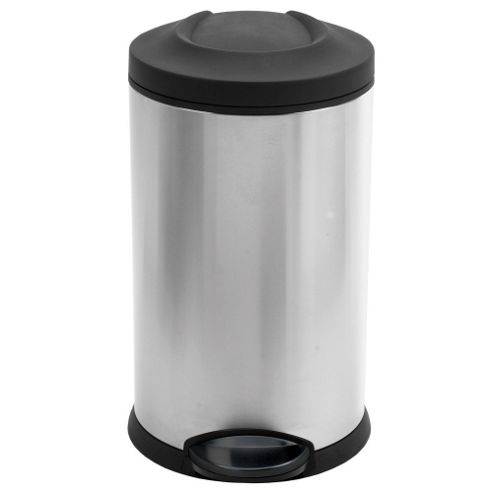 simplehuman 12 Litres Round Pedal Bin in Brushed Stainless Steel