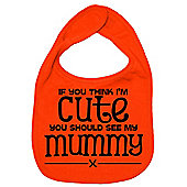 Dirty Fingers If you think I'm Cute you should see my Mummy Bib Orange