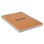Rhodia Orange Head Stapled Pad 10.5X14.8Cm Sq.5X5 13200C