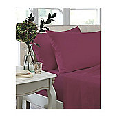 Catherine Lansfield Home Non Iron Percale Combed Polycotton King Size Flat Sheet MAGENTA