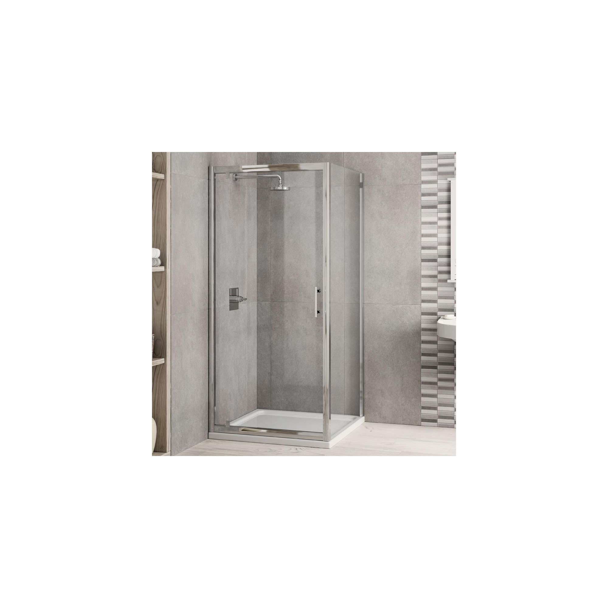 Elemis Inspire Pivot Door Shower Enclosure, 800mm x 800mm, 6mm Glass, Low Profile Tray at Tesco Direct