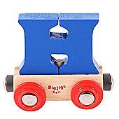 Bigjigs Rail Rail Name Letter H (Dark Blue)