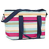 Navigate Stripe Family Shoulder Cool Bag - 20 Litres