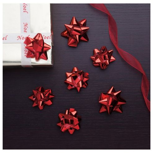 Tesco Red Christmas Bows, 20 Pack