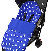 Fleece Footmuff To Fit Buggy Pushchair Blue Star