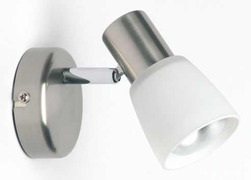 Brilliant Luca Wall Spotlight in Satin Chrome