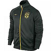 2014-15 Brazil Nike Core Trainer Jacket (Black) - Black