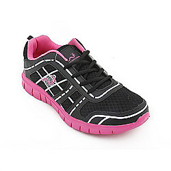 Woodworm Sports Fws Ladies Running Shoes / Trainers Black/Pink Size 4
