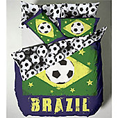 Catherine Lansfield Kids Brazil Single Bed Quiltset - World Cup Special