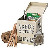 Burgon & Ball Seeds and Stuff Tin, Cream