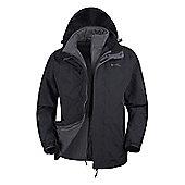 Mountain Warehouse Storm 2 Mens 3 in 1 Waterproof Jacket - Black