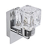 Ritz Single Ice Cube Wall Light in Chrome