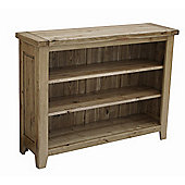 Rutland Solid American White Oak Low Bookcase