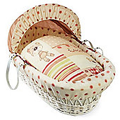 Clair de Lune White Wicker Moses Basket (Little Bear)
