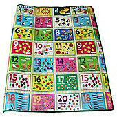 Numbers Playmat, Colourful Floor Mat 120 x 100 cm