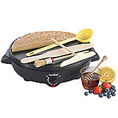 VonShef 2 in 1 Crepe & Pancake Maker with Crepe Making Accessory Tool Kit and Wok Pan Set