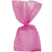 Hot Pink Large Cellophane Party Bags - 29cm