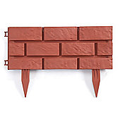 Brick-effect Garden Edging (Pack of 4) - Terracota