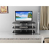 Glass TV Stand LED/LCD/Plasma For Screen Sizes 32' To 60 - Silver & Black