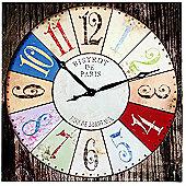 Home Essence Bistrot De Paris Canvas Wall Clock