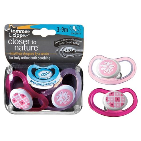 Tommee Tippee Closer To Nature C-Air Soother 3-9 months x2