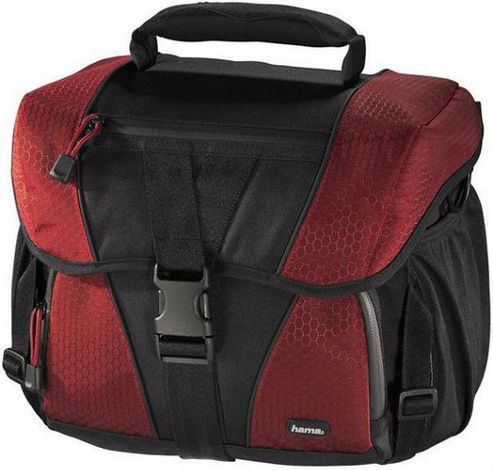 Hama 80697 Rexton 140 Camera Bag -  Black and Red