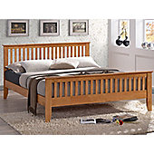 Turin Wooden Bedframe With Shaker Style Design And A Sprung Slatted Base 5'0