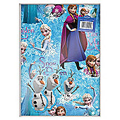 Disney Frozen 2 Sheets of Gift Wrapping Paper and 2 Tags