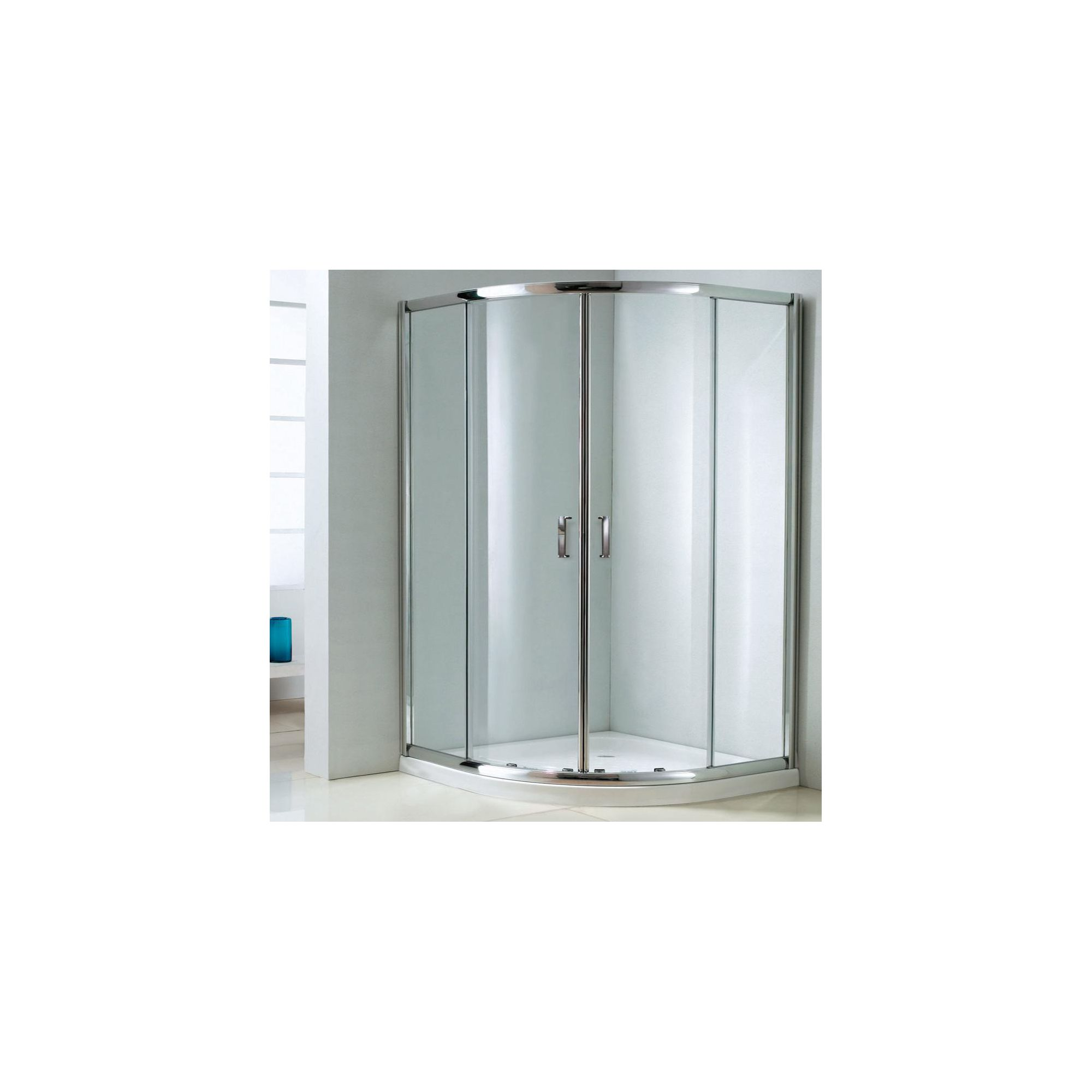 Duchy Style Double Offset Quadrant Door Shower Enclosure, 1000mm x 800mm, 6mm Glass, Low Profile Tray, Left Handed at Tesco Direct