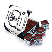 Silver Cup Billiard Chalk (12 Pieces) - Chalk Colour : Burgundy Chalk