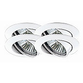 Paulmann Premium Line Four Swiveling Downlight Set in White