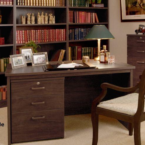 Enduro Home Office Rectangular Desk - Teak