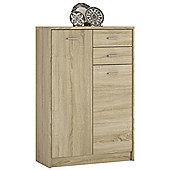 Kensington Tall 2 Door 2 Drawer Cupboard Sonama Oak