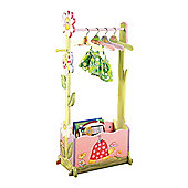 Teamson Magic Garden Clothing Rail with 4 Hangers