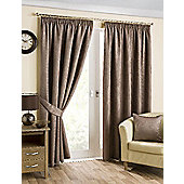 Hamilton McBride Belvedere Lined Pencil Pleat Mink Curtains - 90x90 Inches (229x229cm)