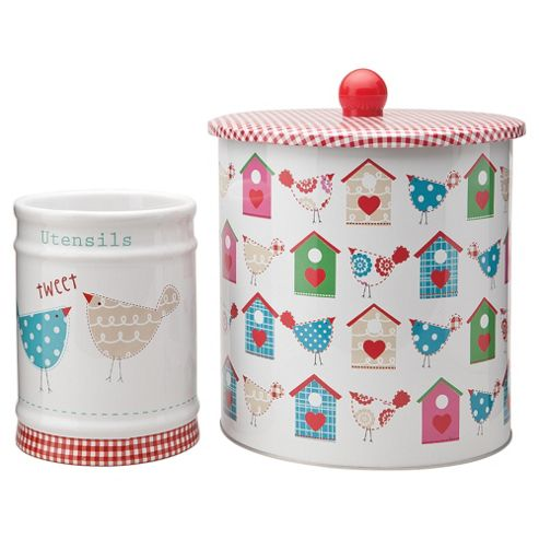 Tesco Tweet Biscuit and Utensil Set