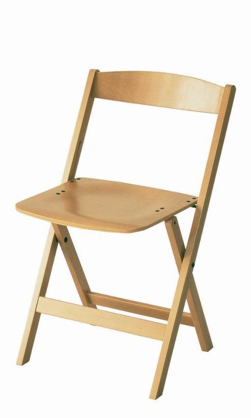 Foppapedretti Casa Luna Folding Seat in Natural - Set of Two
