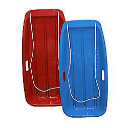 Snow Speeder Plastic Sled Twin Pack - Blue & Red