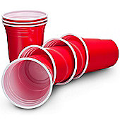 VonShef Ruby Apple Red American Plastic Disposable Party Cups - 50 Pack 16oz (455ml)