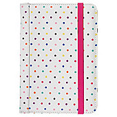 "Trendz Universal Folio Case Cover with Stand for 7"" Tablets - Polka Dot"
