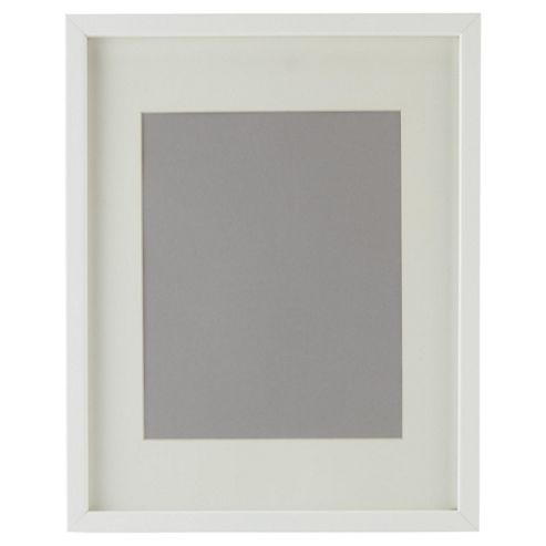 Tesco Basic Photo Frame White 11x14 with 8x10 Mount