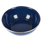 Summit Enamel Camping Bowl with Stainless Steel Rim, Blue 15cm