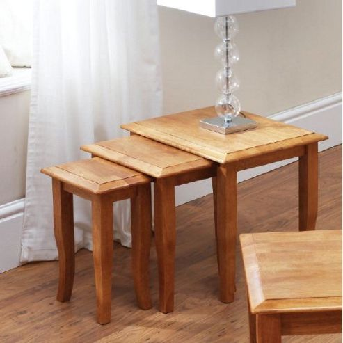 Wilkinson Furniture Naomi 3-Piece Nest of Table Set - Honey