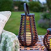 Tall Rattan Solar Powered LED Garden Lantern