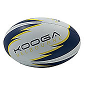 Kooga Melbourne Training Rugby Ball White/Navy/Yellow 4